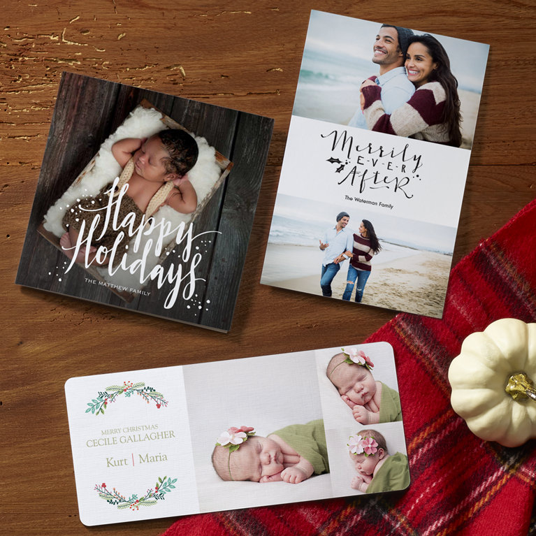 Personalized Christmas Cards 2018, Photo Holiday Cards | Vistaprint