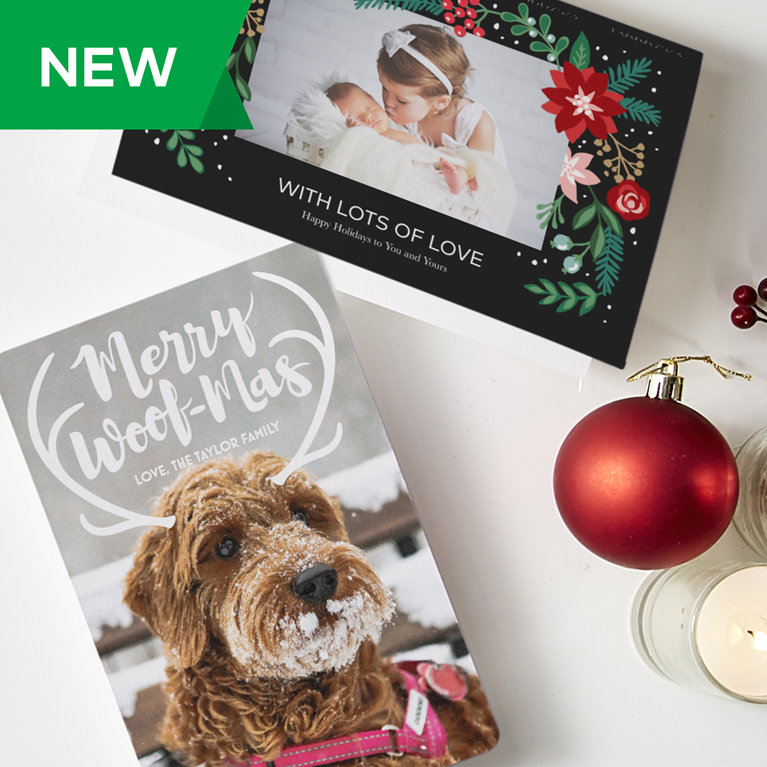 Personalized christmas cards 2017 photo holiday cards vistaprint shop new holiday card designs reheart Image collections