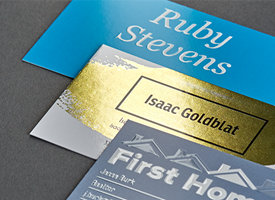 Signature business cards vistaprint brilliant finishes make your business card reheart Images