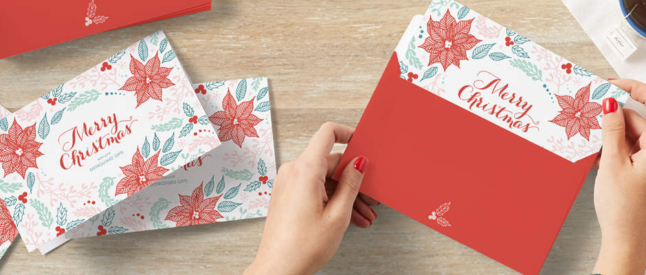 holiday card preparation for customers