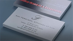 indented business cards