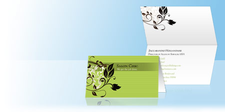 Folded Business Cards Vistaprint - Folded business card template