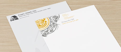 Custom business letterhead paper