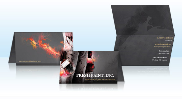 Folded business cards vistaprint introduce customers to your business with a striking cover design take a look at our signature series designs and make a bold statement reheart Images