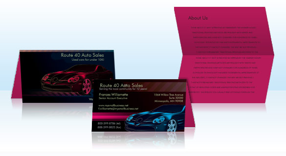 Folded business cards vistaprint give an overview of your business list your accomplishments or provide answers to frequently asked questions colourmoves