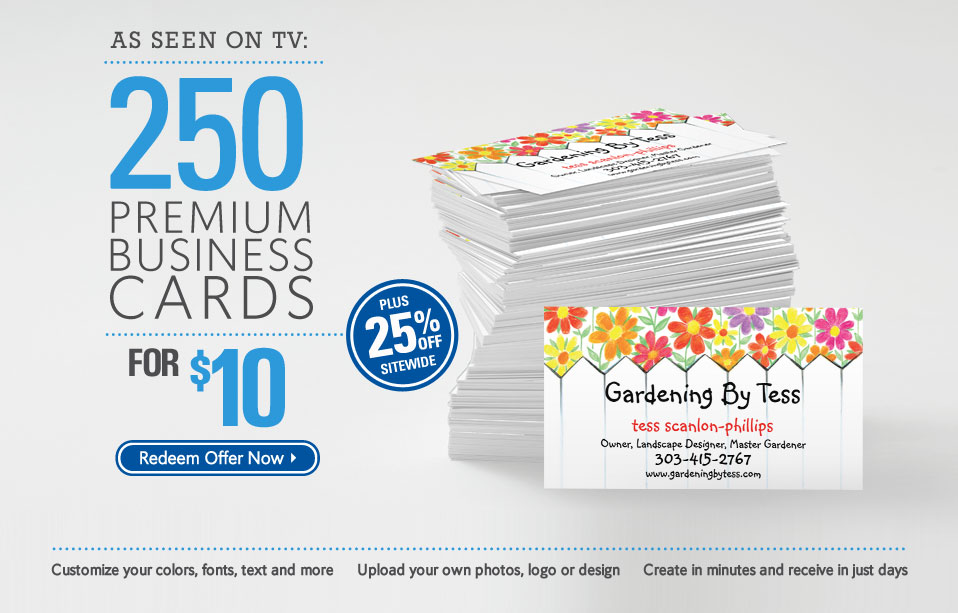 as seen on tv - Vistaprint Business Card Promo Code