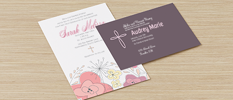 Custom invitations make your own invitations online vistaprint custom religious cards invites filmwisefo Gallery