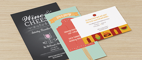 Custom party invitations for graduation, birthday & engagement