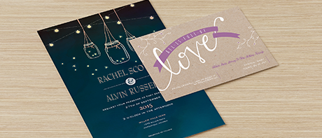Custom invitations make your own invitations online vistaprint custom wedding invitations reheart Choice Image