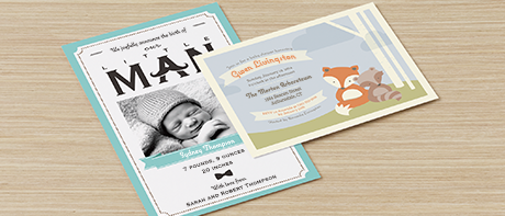 Custom Invitations Make Your Own Invitations Online Vistaprint – Vistaprint Baby Announcements