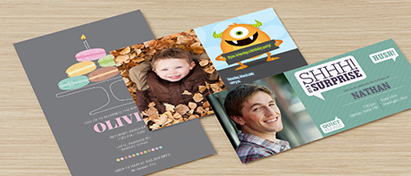 Custom birthday invitations for adults & kids