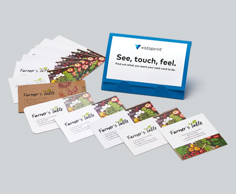 Free Business Cards Sample Kit Vistaprint